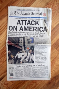 Newspaper from 9-11